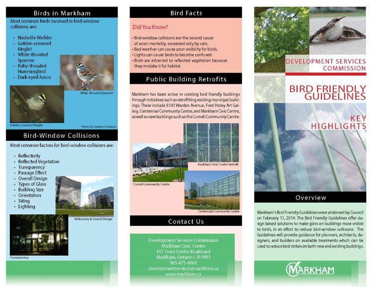 City of Markham's Bird Friendly Guidelines