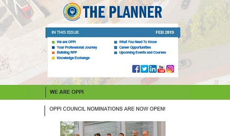 February 2019 Issue of The Planner newsletter