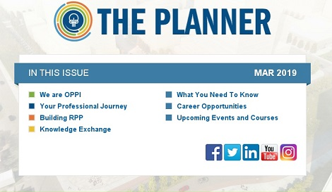 March 2019 Issue of The Planner newsletter